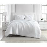 *Queen - Greenport Crinkle 3-Piece Comforter Set - White - Final Sale