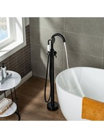 *Floor Mounted Freestanding Tub Faucet - Matte Black - Slight Scratches