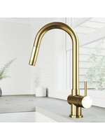 *Gramercy Pull Down Single Handle Kitchen Faucet - Gold