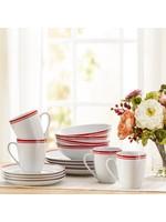 *16 Piece Porcelain Dinnerware Set - Service for 4
