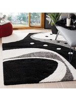 * 8' x 10' - Stacie Abstract Black/Ivory Area Rug