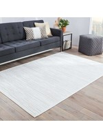 *5' x 7'6 - Killebrew Abstract White Area Rug
