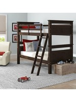 *Leonel Twin Over Twin Solid Wood Bunk Bed - Expresso