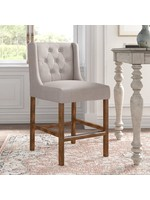 """*24"""" - Avah  Counter Stool - French Beige"""