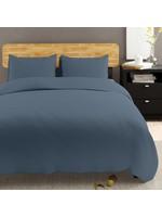 *Full/Queen- Edmonia Duvet Cover Set - Steel  Blue- Final Sale