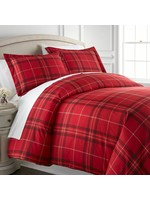 *Twin - Duval Duvet Cover Set - Red - Final Sale