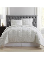 *Full/Queen- Solid Duvet Cover Set - Ivory - Final Sale