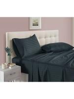*King - Striped Sheet set - Dark Grey - Final sale