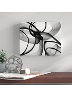"""*18"""" x 24"""" - Abstract Poetry in Black and White 100' by Irena Orlov Graphic Art"""