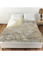 *Twin - Gold/Grey Modern & Contemporary Duvet Cover By Oliver Gal