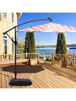 *Arango Weighted Fill Water Sand Wheel Patio Resin Free Standing Umbrella Base - Final Sale