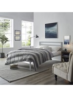 *Full - Karlsefni Metal Platform Bed - Grey