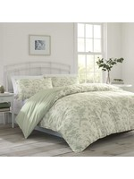 *King - Natalie Reversible Floral Cotton 7 Piece Comforter Set - Final Sale