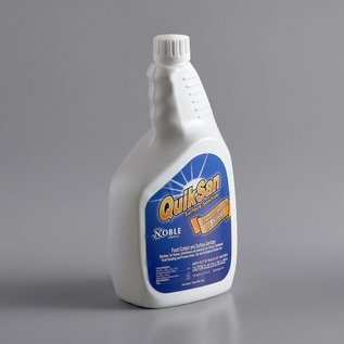 Noble 32 oz. QuikSan Food Contact and Surface Sanitizer Refill