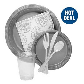84pc Tableware Party Pack! Plates, Cups, Napkins, Forks, Spoons, and knives