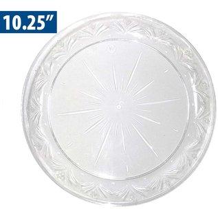 "MISC Crystal Fancy Plastic Dinner Plates 10"" - 10 Pack"