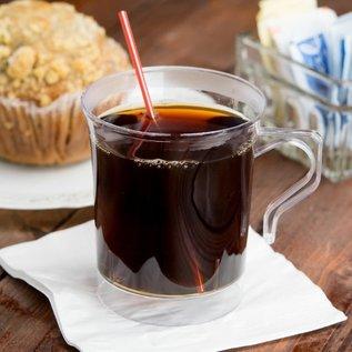 MISC Visions 8 oz. Clear Plastic Coffee Mug - 8/Pack