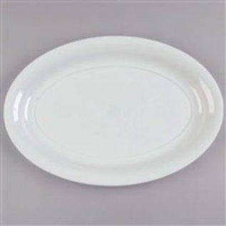 "MISC White Plastic Heavy duty Oval Tray (16"" x 11"")"