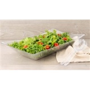 Bluesky Oblong Clear Textured Textured Salad Bowl 96 oz
