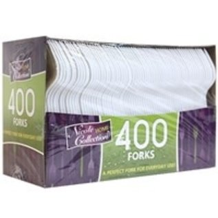 MISC 400 Count Disposable White Forks