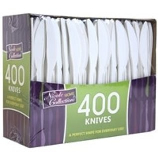 MISC 400 Count Disposable White Knives