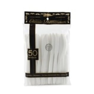 MISC Basic Cutlery Collection, White Knives Deluxe 50 Count