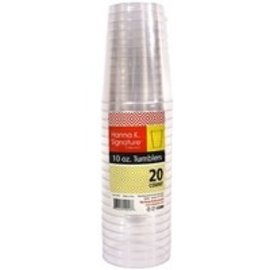 MISC Clear Plastic Tumbler Cups 10oz - 20 Pack