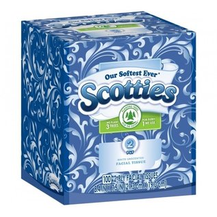 MISC Scotties White Unscented Facial Tissues- 100 2-Ply Tissues
