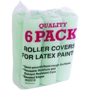 """Linzer 6 Pack Paint Roller Cover, 3/8 in Nap, 9"""""""