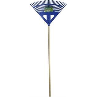 Poly Leaf Blue Wood Rake PR27X - 24 Inches