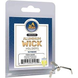Ner Mitzvah Aluminum Wick Holders – 10 Pack, Medium
