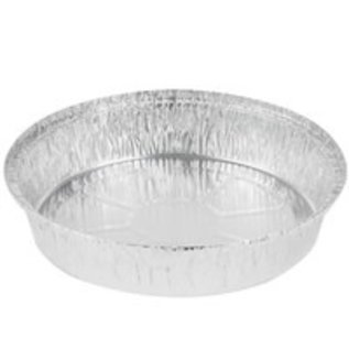 """MISC Aluminum Foil Pan 9"""" Round Takeout, Pie, or Challah"""