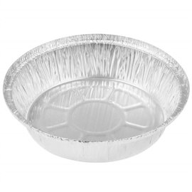 """MISC Aluminum Foil Pan 7"""" Round Takeout, Pie, or Challah"""