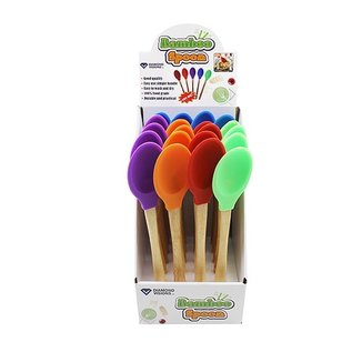 MISC Bamboo Silicone Large Cooking Spoon Utensil