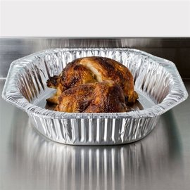 "MISC Oval Turkey Aluminum Foil Roast Pan 18"" x 14"" x 3"""
