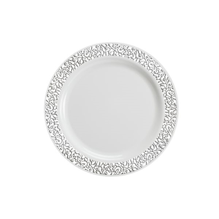 Silver lace  Dinner Plate 10ct