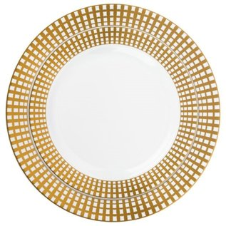 Bluesky Signature Collection Combo White/Gold 7.5inch and 10.25inch Plates (40 Count)