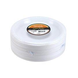 """Plastic White Dinner Plates Bulk Pack 7""""  - 100 Ct"""