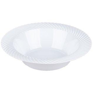 White Wave Plastic Bowl - 18/Pack  12 oz.