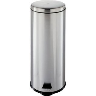 MISC Homebasix Round Stainless Steel Garbage Trash Can - with Step