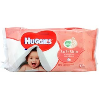 MISC Huggies Baby Wipes Soft Skin with Lotion & Vitamin E - 56 Wipes