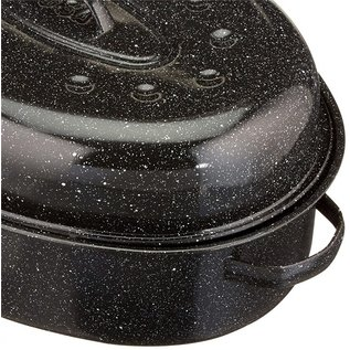 MISC Granite Ware 18-Inch Covered Oval Roaster (Perfect for Turkey)