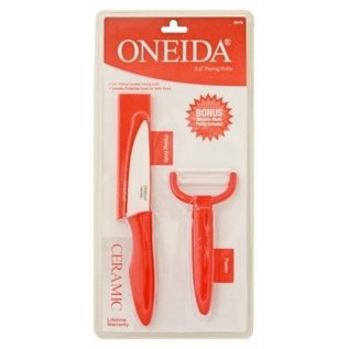 "oneida Oneida 3.5"" Ceramic Paring Knife and Peeler Set (55178)"