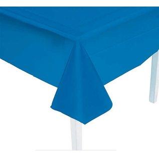 "Hanna K Disposable Heavyweight Plastic Tablecloth - Blue ( Rectangle 54"" x 108"")"