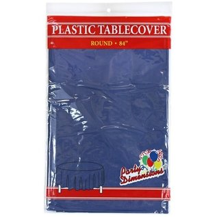"""MISC Disposable Round Plastic Tablecloth -  Blue ( 84"""" )"""