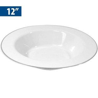 """MISC Disposable Silver Rim Edge 12"""" Bowls - 10 Pk"""