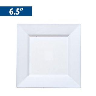 "MISC Disposble White Square Dinner Plates 6.5"" - 10Pk"