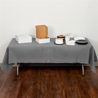 """MISC Glamour Gray Tissue Poly Tablecloth (Rectangle 54"""" x 108"""")"""