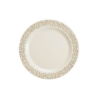 MISC Gold lace Dinner Plate  10ct
