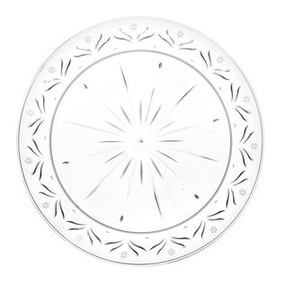 Bluesky Simcha Collection Clear 9″ Lunch Plates 20 Count